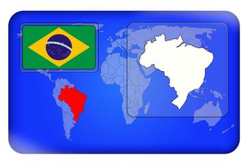 3D-Button - Brasilien