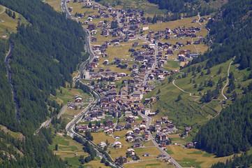 Luftaufnahme von Saas Grund - Saastal