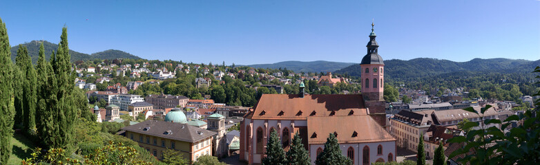 panoramic view on Baden-Baden