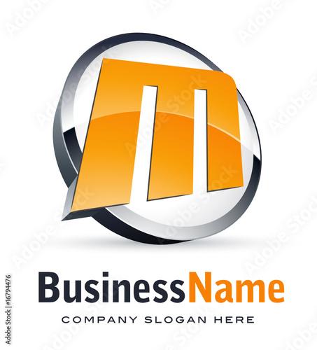 letter m logo. Alphabet logo design, letter M