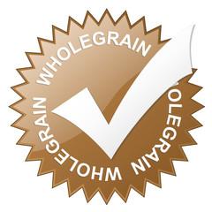 """WHOLEGRAIN"" vector stamp (brown)"