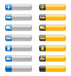 Banner buttons with transport icons