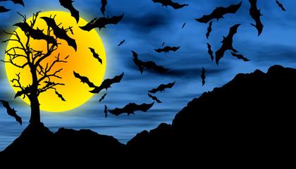 Bat Halloween background