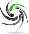 Abstract company symbol. Vector illustration.