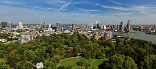 aerial panorama image of  Rotterdam