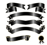 Black Banners Vector