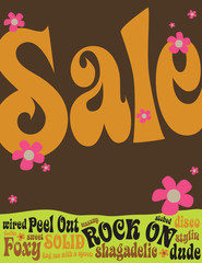 8.5x11 Seventies Style Sales Flyer/Poster