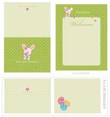 Special Event Templates (invite, envelope, 8.5x5.5 program)