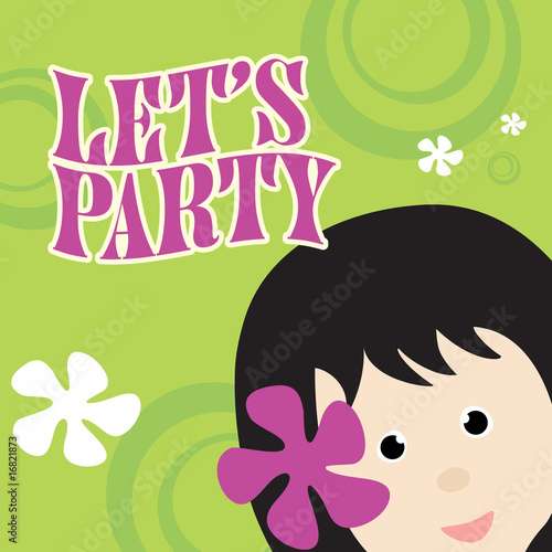 Party Invitation on Cool Background