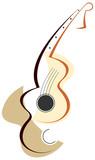 Guitar logotype poster