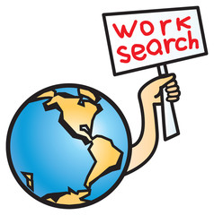 World crisis. Work search.
