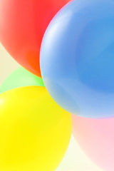 ballons multicolores
