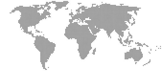 The World - Welkarte Punkte schwarz