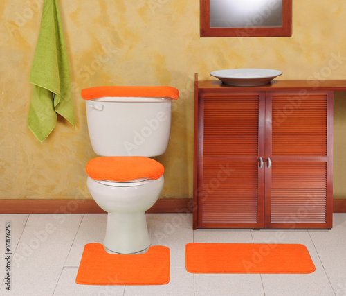Orange bathroom
