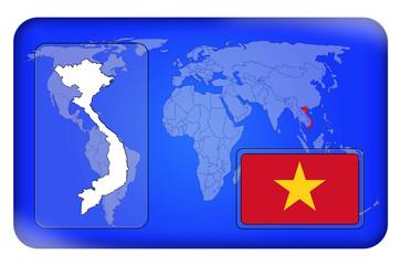 3D-Button - Vietnam