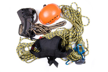 Alpinist, mountain climber, or ropejumper tools kit
