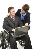 Disabled Businessman and Associate poster