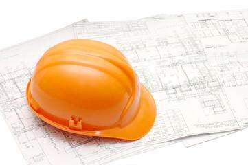 Orange helmet on the house project