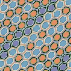 Hexagon tiles. Seamless vector pattern