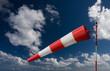 Leinwandbild Motiv vent direction air manche force indication météo aéroport aérodr