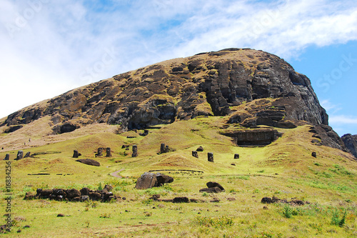Moai at Rano Raraku quarry Easter Island, Chile