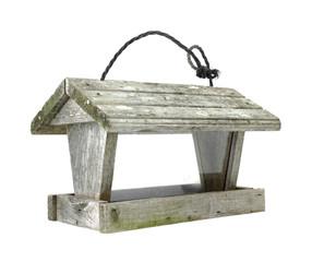 Old worn bird feeder