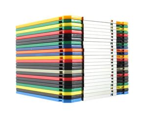 Stack of computer floppy disks