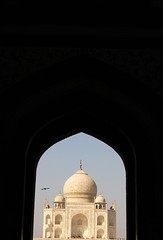 Frist view of Taj Mahal from entrance