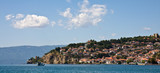 Ohrid Lake and City Panorama poster