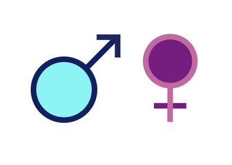 Symbol Mann und Frau