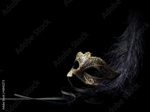 Deurstickers Carnaval carnival mask isolated on black