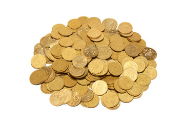 Heap of golden coins