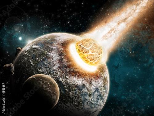 Planet Explosion - Universe Exploration - Earth Apocalypse - 16843687