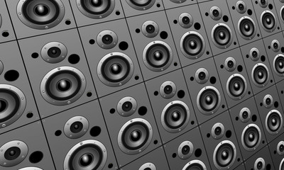 Music loud speakers background
