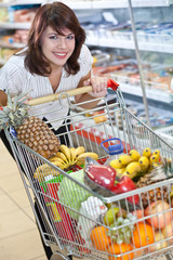 Young woman in the supermarket