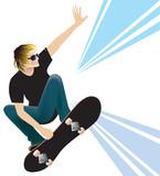 Fototapete Skating - Springen - Jugendliche/r