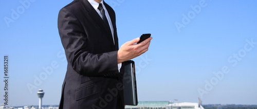 Businessman at an airport