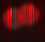 Fototapety Deep Red Curtain With Two Small Spots