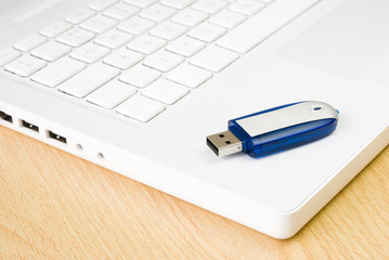 Laptop and flash pen drive