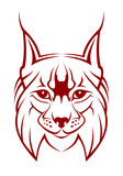 Head of lynx as a mascot isolated on white poster