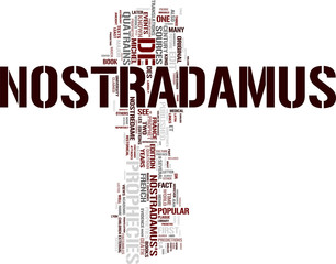 Nostradamus word cloud