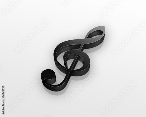black treble clef