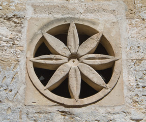 Wall decoration. Sassi of Matera. Basilicata.