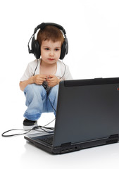 The child in headphones