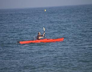 piraguismo en el mar
