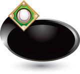 Baseball diamond circle swoosh poster