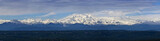 Italy, panoramic view of italian Alps and Rose Mountain