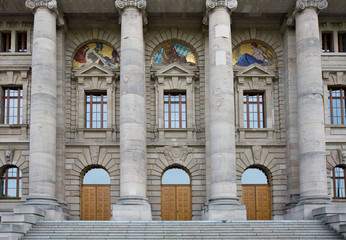 münchen, staatslanzlei, fassade