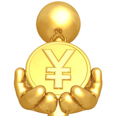 Gold Guy With Gold Coin
