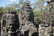 """Têtes monumentales du site """"BAYON"""" aux temples d'Angkor"""